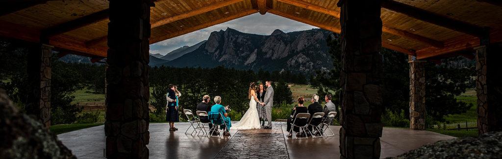 Outdoor Mountain Wedding Ceremony | Black Canyon Inn Wedding | Estes Park Wedding Photographer | J. La Plante Photo