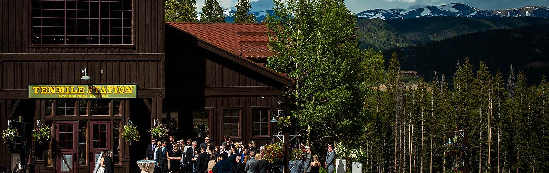 Outdoor Mountain Wedding Ceremony | TenMile Station Wedding | Breckenridge Wedding Photographer | J. La Plante Photo