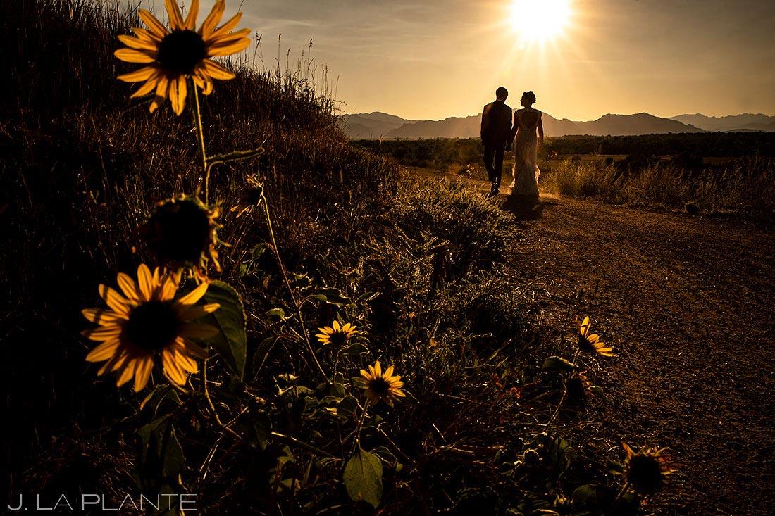 lionsgate wedding bride and groom sunset wedding photo