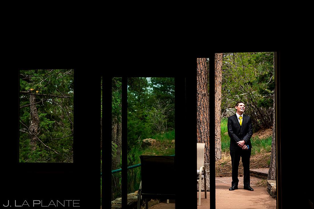 groom waiting to elope