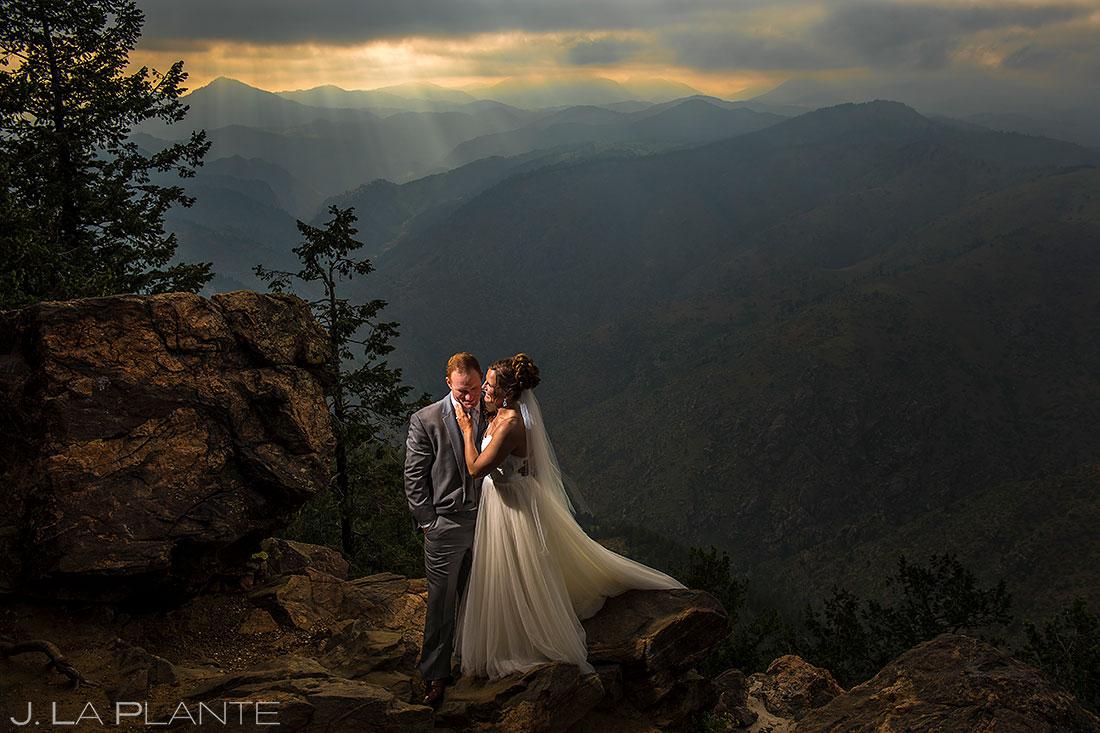 sunset wedding photo boettcher mansion wedding | what does wedding photography cost