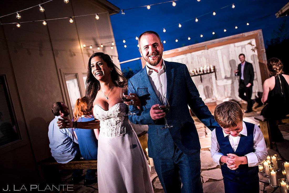 blue hour wedding photos at wedding ceremony in texas