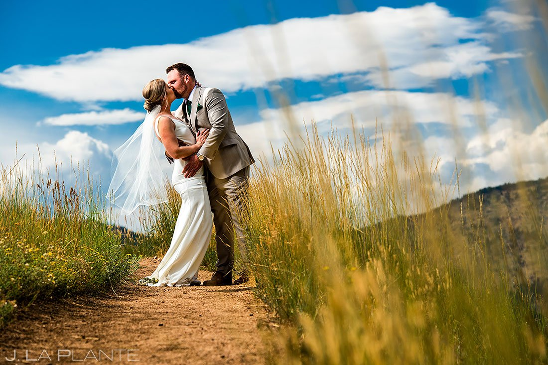 denver micro wedding portrait of newlyweds