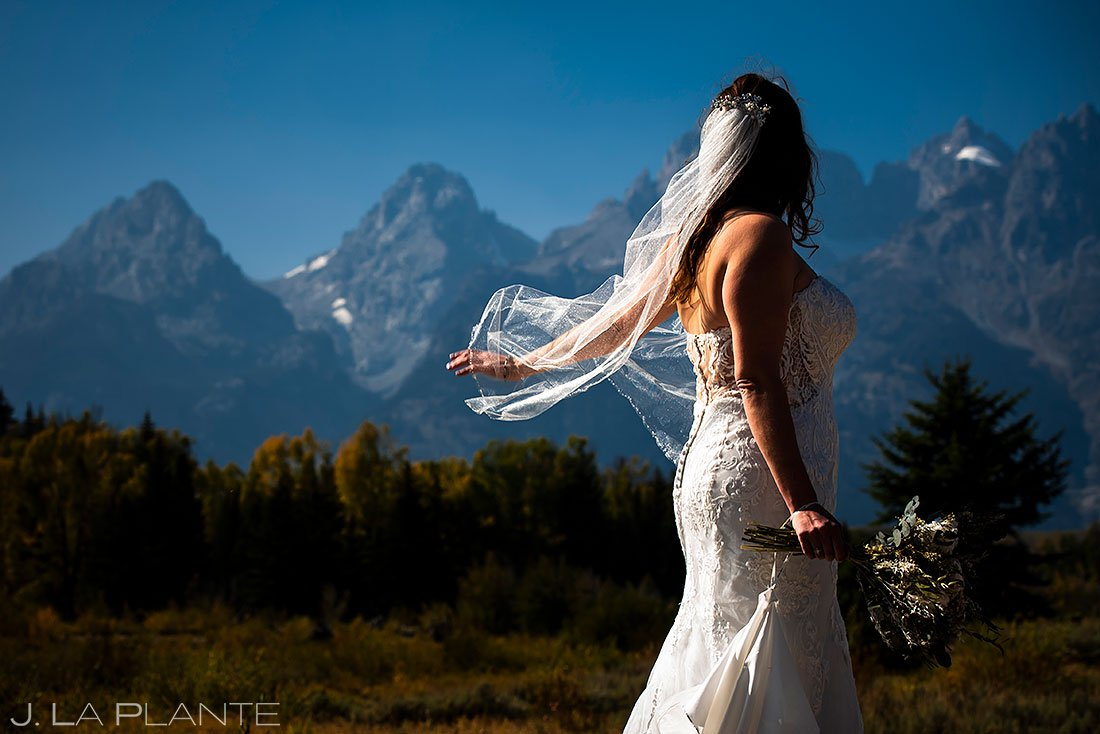 bridal portrait at grand teton national park