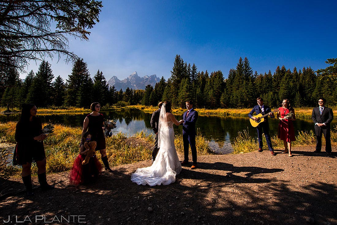 grand teton elopement wedding ceremony