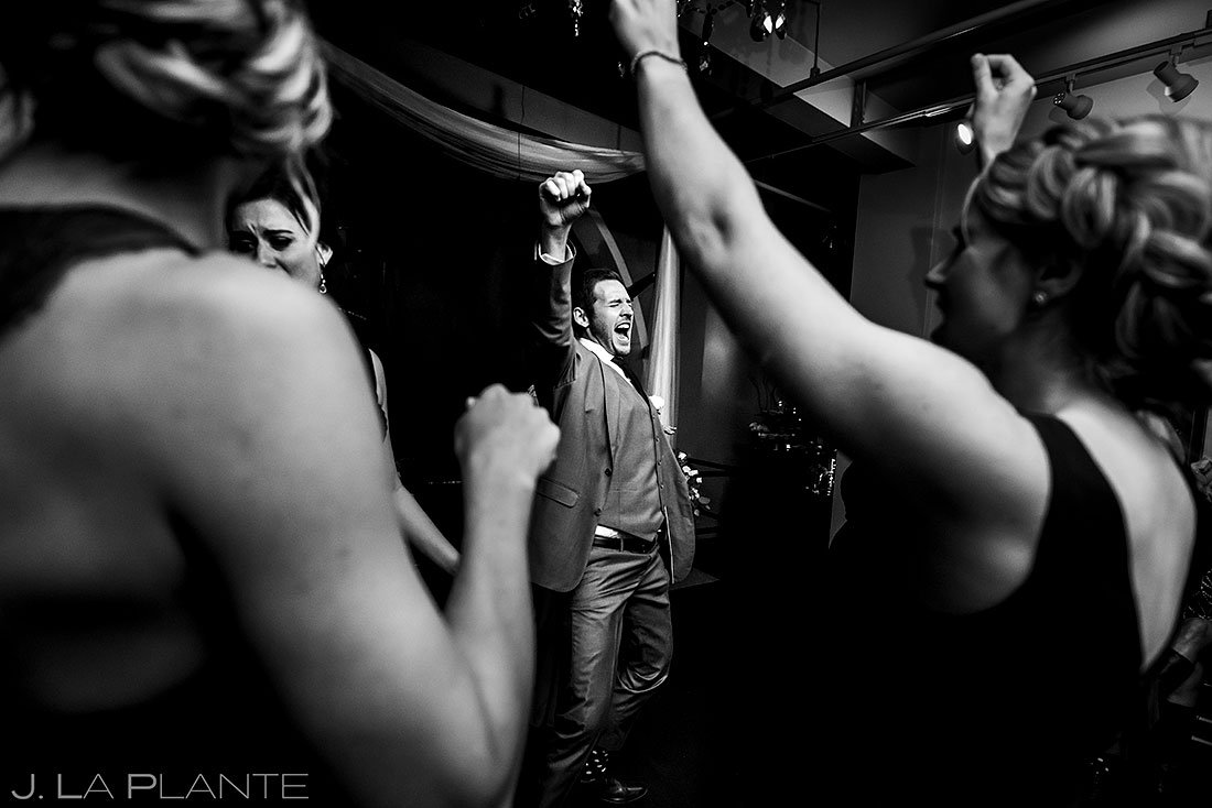 denver clock tower wedding dance party