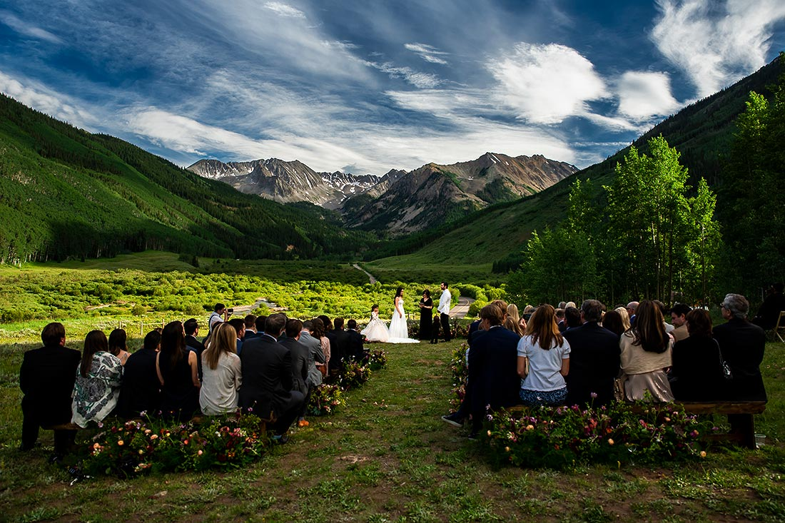 vibrant wedding photography at pine creek cookhouse wedding in aspen colorado