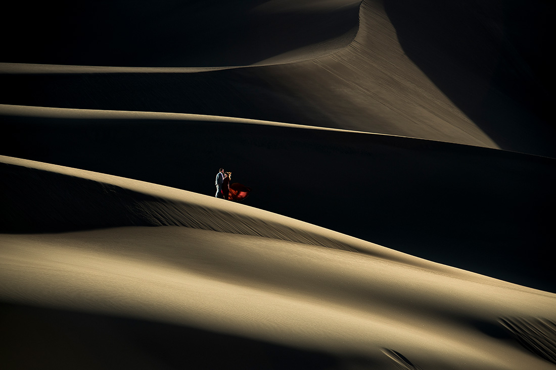 epic engagement session at the great sand dunes in colorado