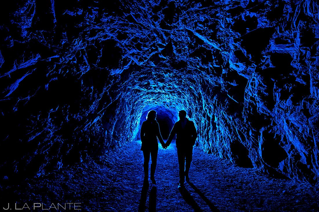 best wedding photos of 2020 bride and groom exploring cave
