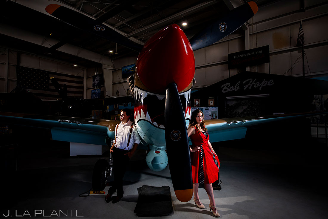 best wedding photos of 2020 airplane engagement session