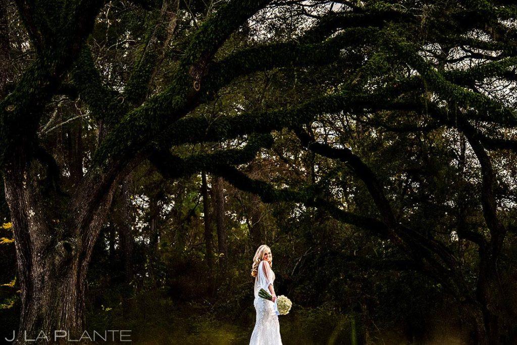 unique bridal portrait at houston wedding