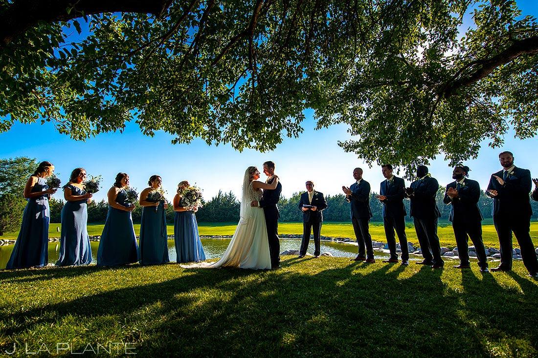 outdoor wedding ceremony in Nebraska | best wedding photos of 2020