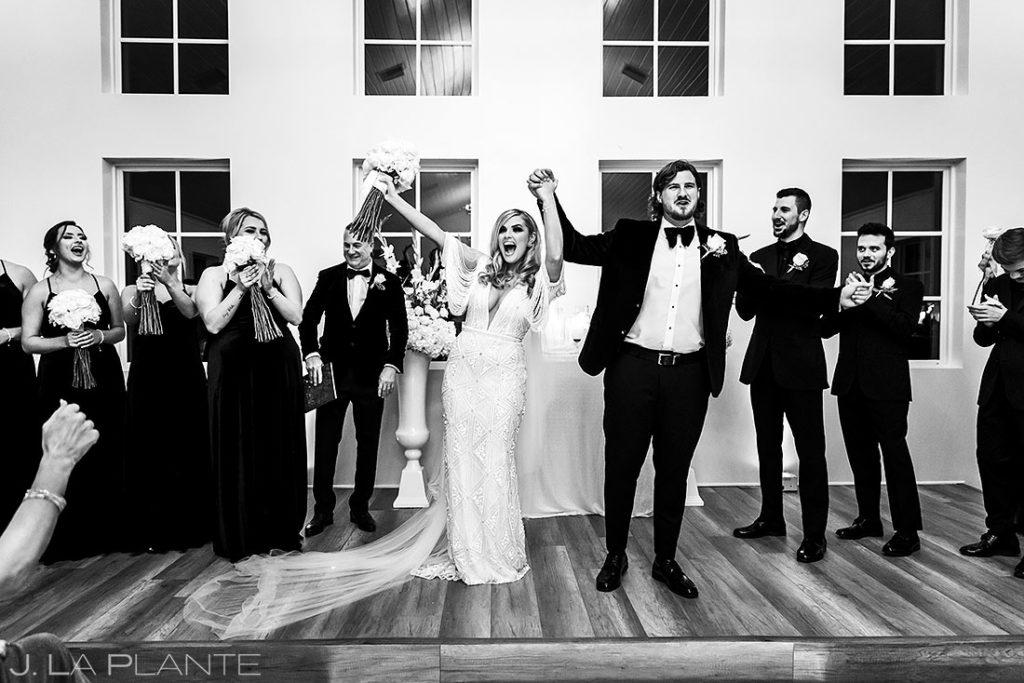 houston wedding ceremony at nighttime