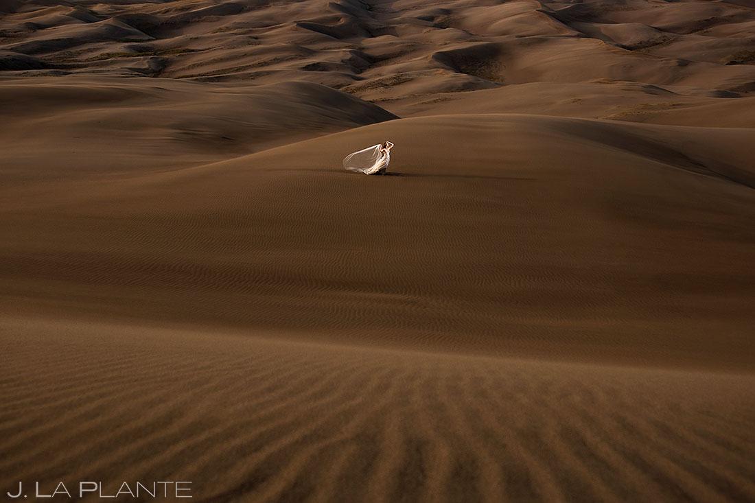 epic bridal portrait at the great sand dunes
