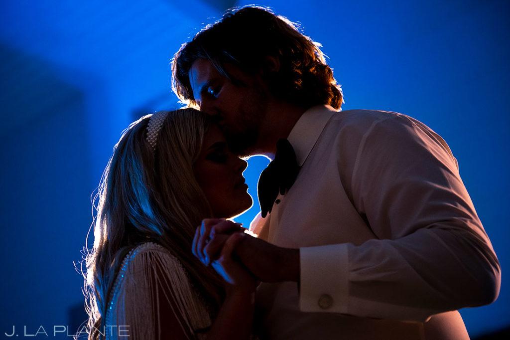 bride and groom last dance during houston wedding reception