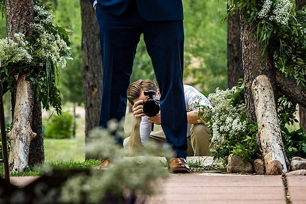 colorado springs wedding photographer at lodge at cathedral pines wedding