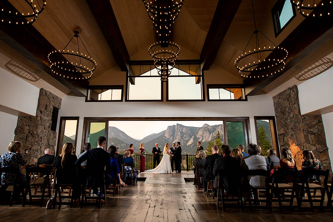 vibrant wedding photography at black canyon inn wedding in estes park colorado
