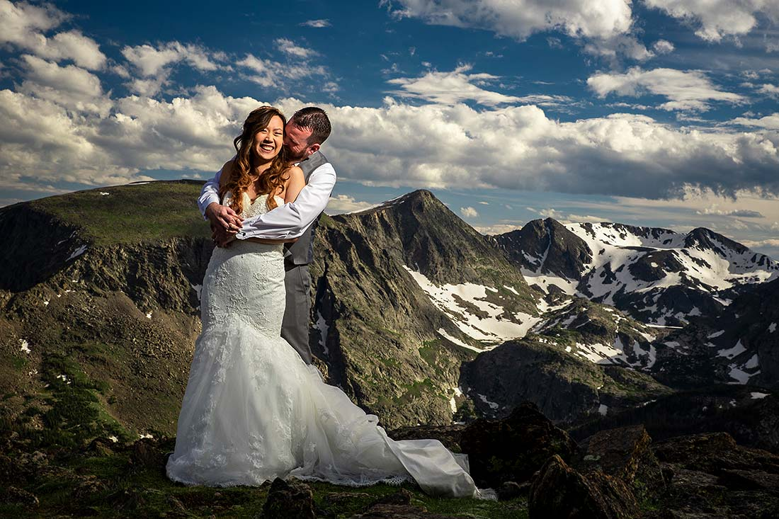 vibrant wedding photography at rocky mountain national park wedding in estes park colorado
