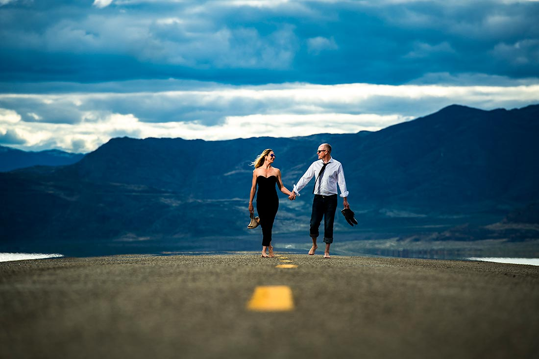 epic engagement session at the bonneville salt flats in utah