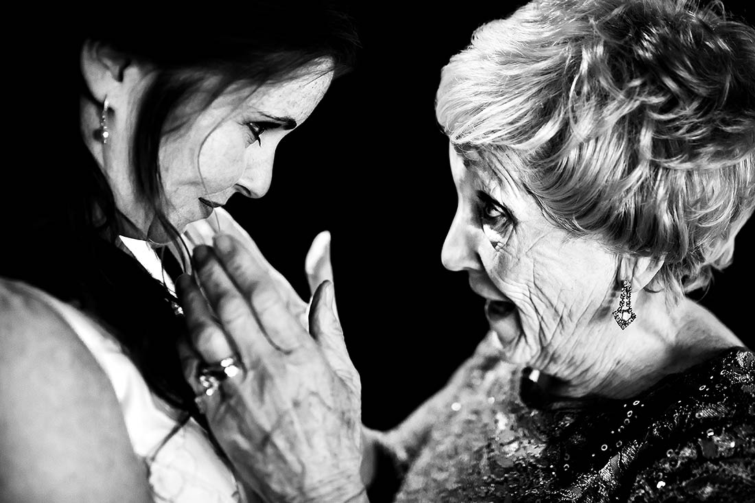 cute moment between bride and her grandmother before ceremony