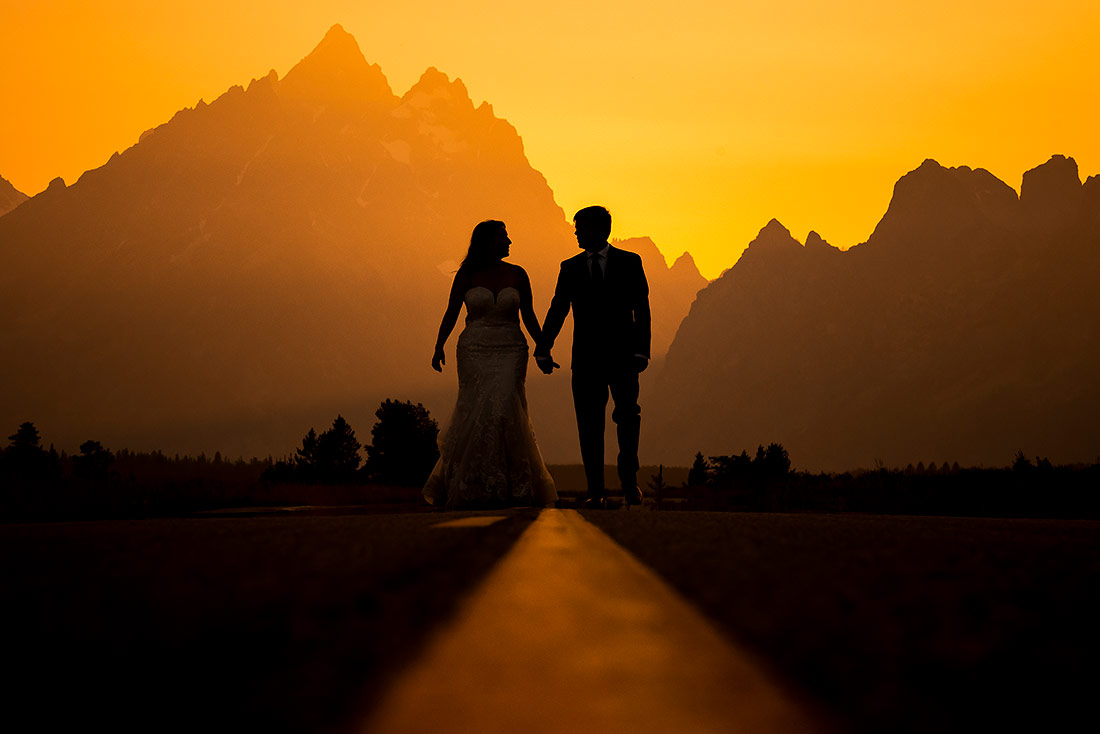 vibrant wedding photography at grand teton national park wedding in jackson wyoming