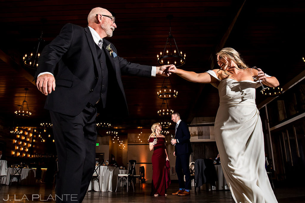 bride dancing with her dad at Black Canyon Inn wedding