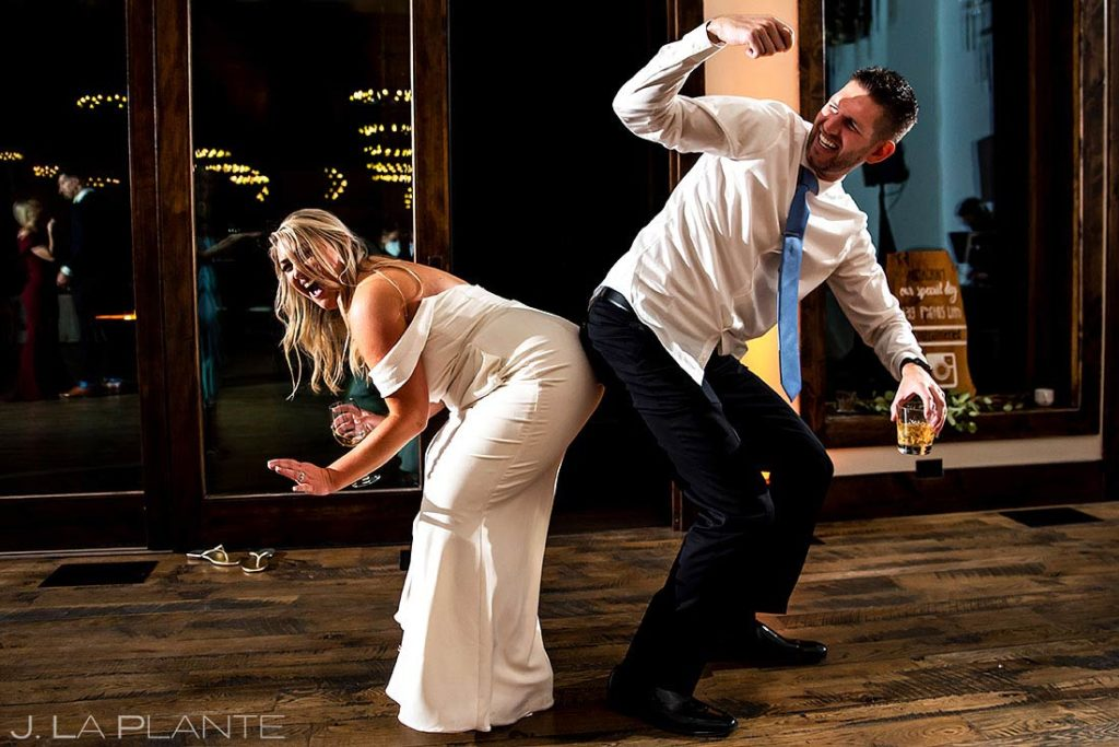 bride dancing with brother at Black Canyon Inn wedding