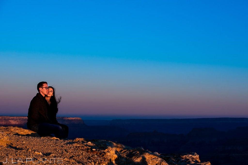 Grand Canyon engagement session at sunrise