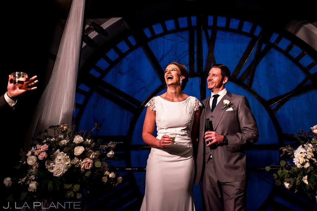 wedding vendors to book first | Denver Clock Tower wedding | J. La Plante Photo