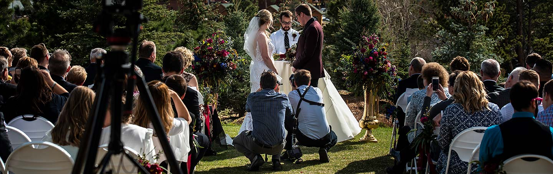 estes park colorado wedding videographer working at Stanley Hotel wedding