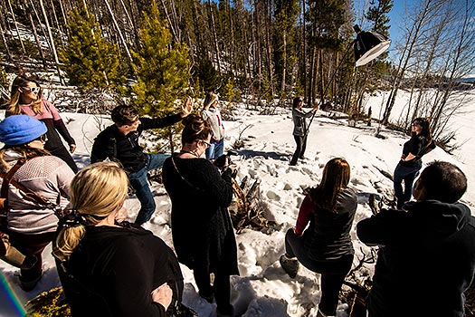wedding photography workshop in Colorado mountains