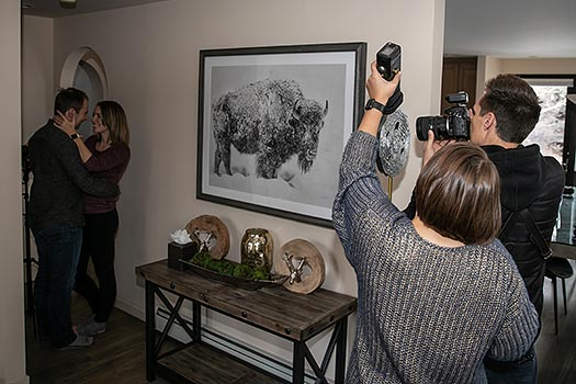 behind the scenes portrait photography
