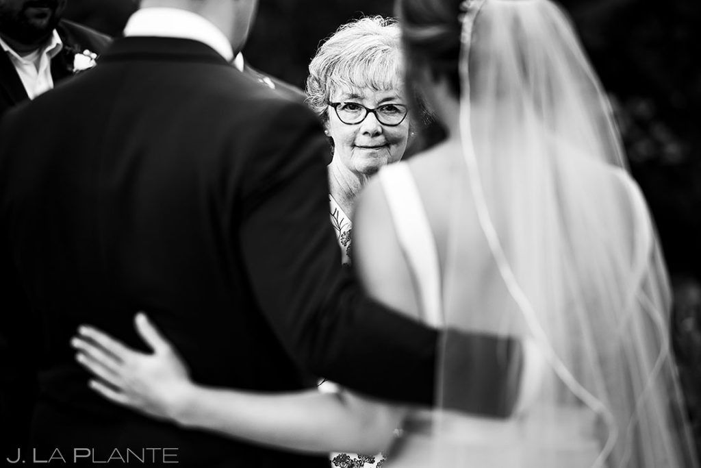 mother of the bride at summer wedding at Shupe Homestead