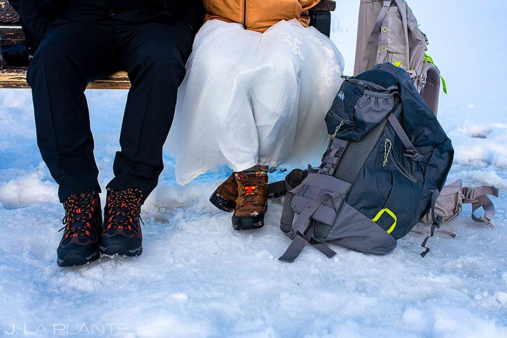 adventure hiking elopement at Brainard Lake Colorado