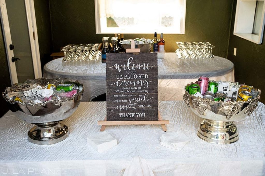 encourage your wedding guests to put their phones down Lionsgate Event Center wedding