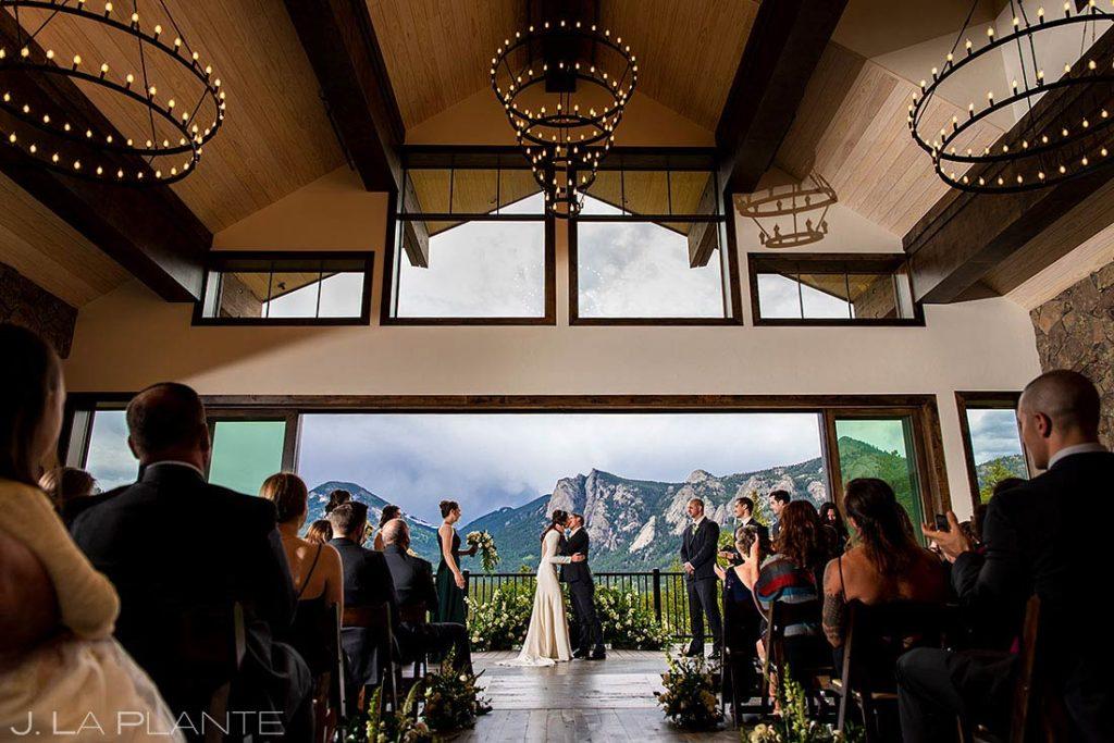 mountain wedding ceremony in Estes Park