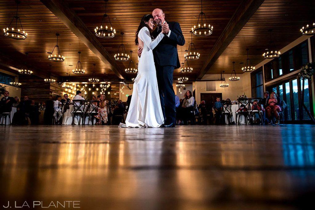 father daughter dance in Estes Park Colorado