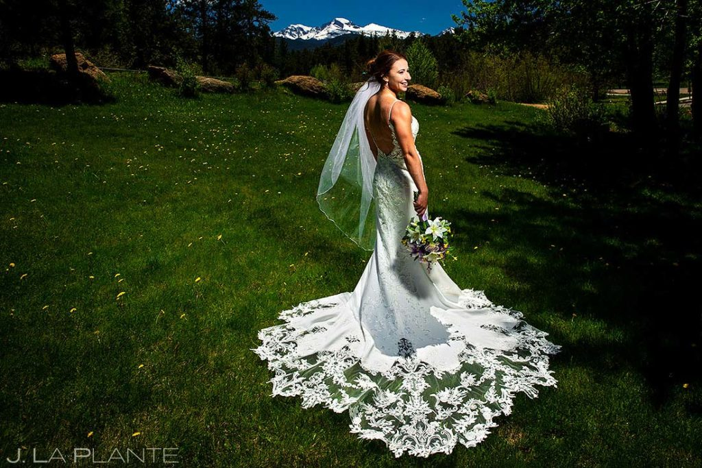 portrait of bride at spring wedding at Black Canyon Inn