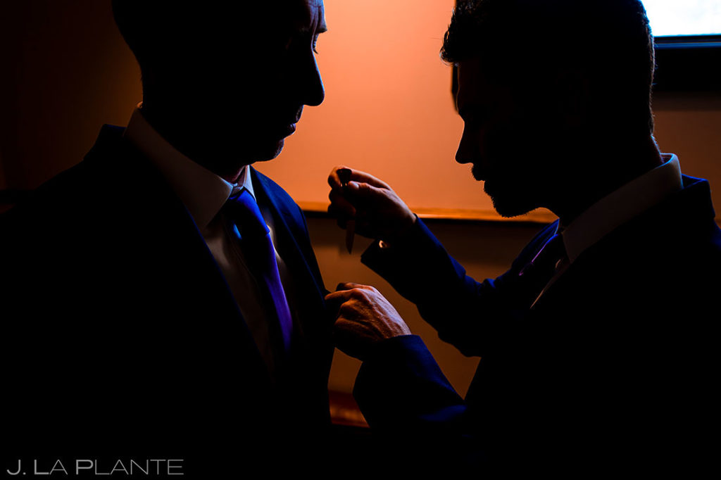 best man and groom getting ready for wedding