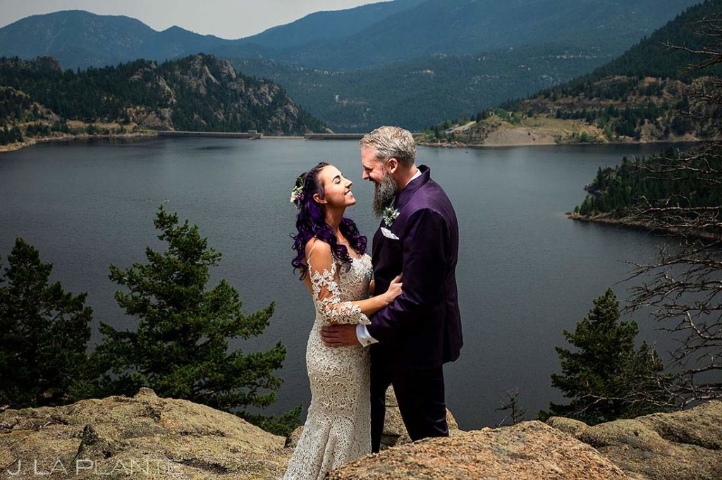bride and groom portrait at Gross Damn in Colorado