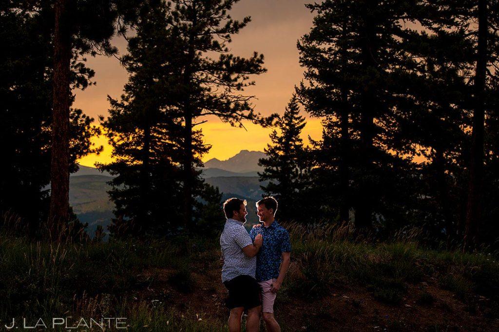 same sex post wedding session in Boulder Colorado