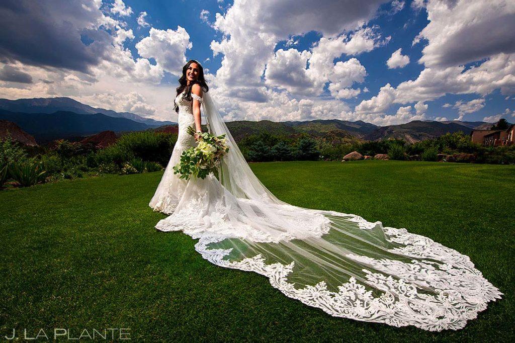 bridal portrait at Garden of the Gods Resort wedding