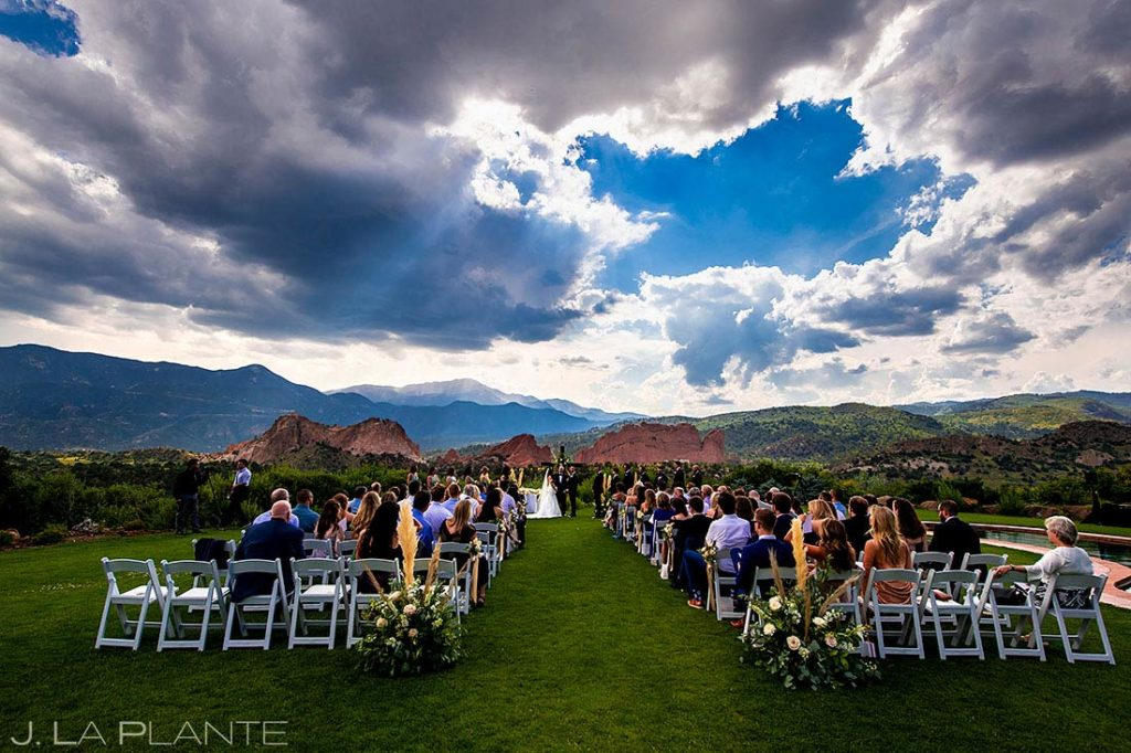 Garden of the Gods Resort wedding ceremony in Colorado Springs
