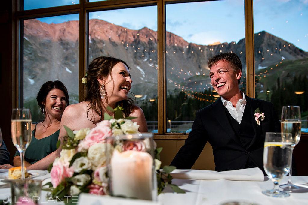best man toast at Arapahoe Basin wedding