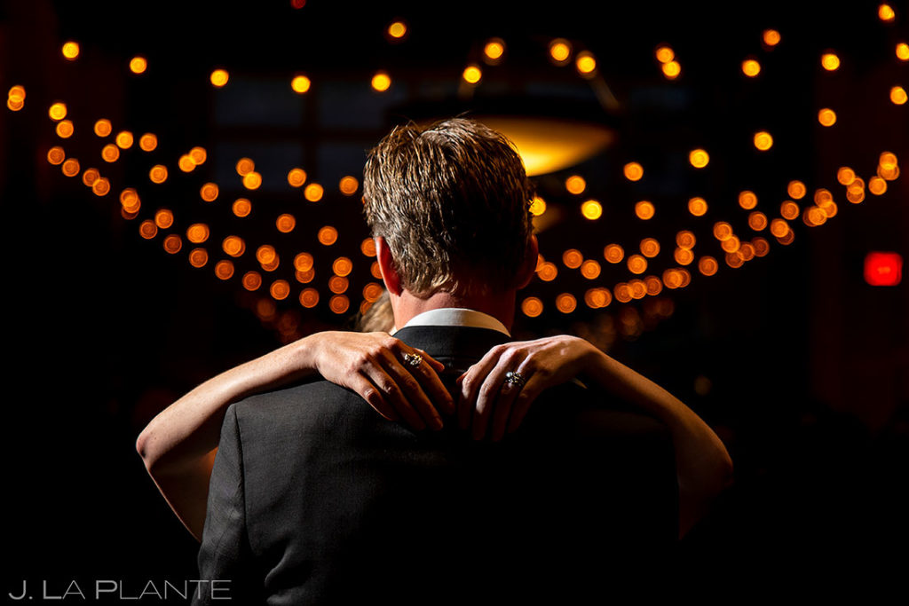 bride and groom first dance at Arapahoe Basin wedding