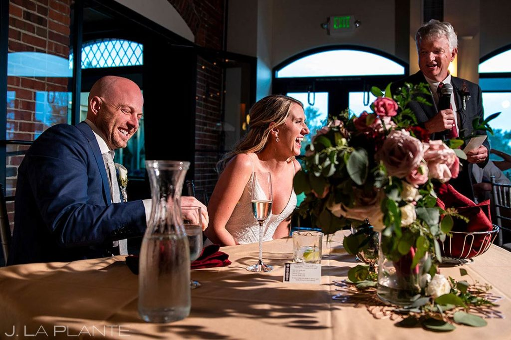 father of the bride toast at Wellshire Event Center wedding