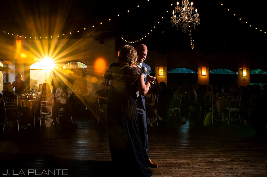 mother son dance at Wellshire Event Center wedding