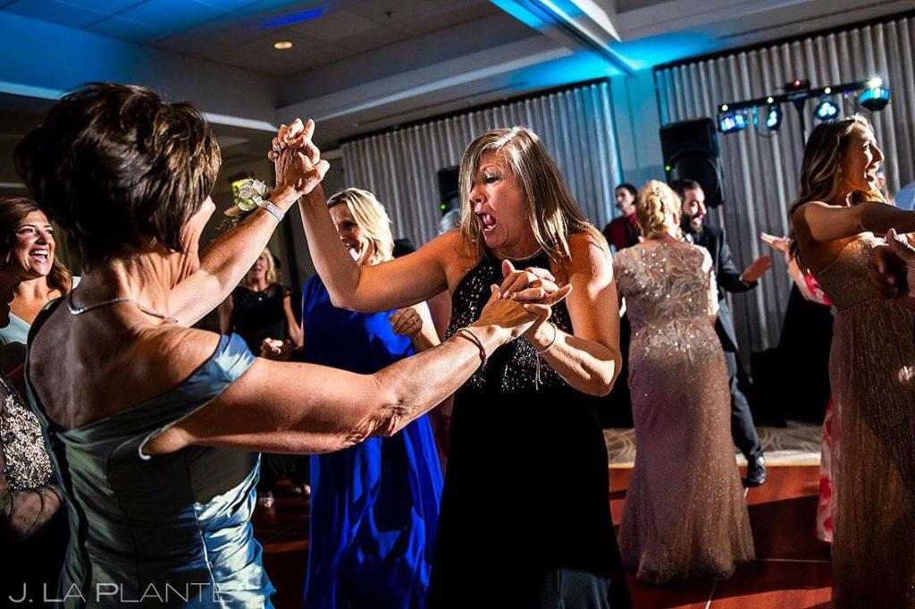 wedding reception dance party at Garden of the Gods Resort wedding