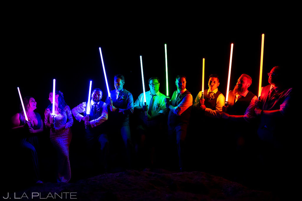 star wars themed wedding in the Rocky Mountains