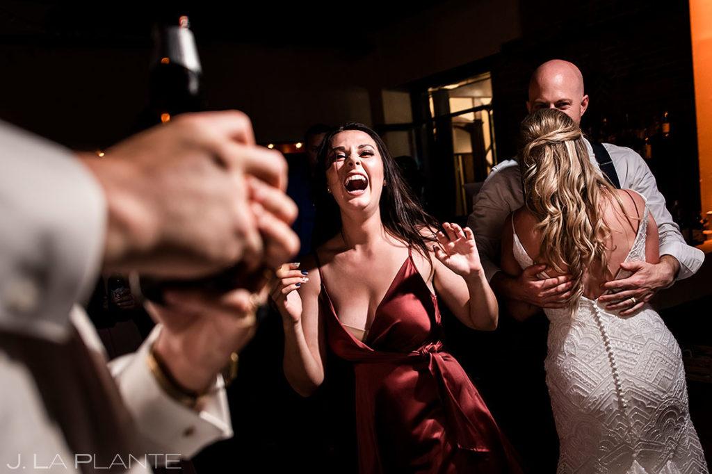 wedding guests on the dancefloor